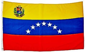 Calidad estándar banderas Venezuela 7 estrellas bandera de poliéster, ...