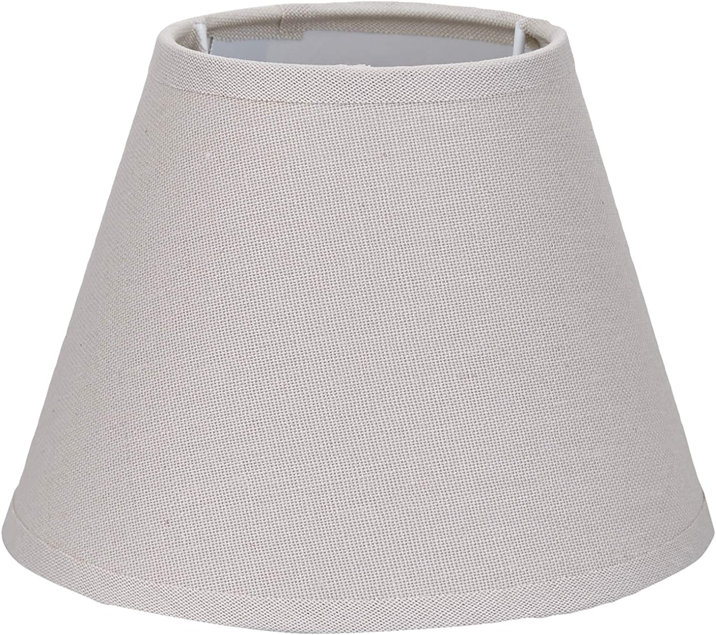 16 cm rund Better /& Best 16 Lampenschirm aus Leinen Taupe