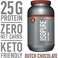 Isopure Keto Friendly Dutch Chocolate Flavor Protein Powder