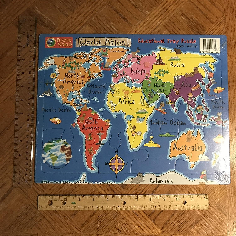 Amazon puzzle world world atlas educational tray puzzle toys amazon puzzle world world atlas educational tray puzzle toys games gumiabroncs Choice Image