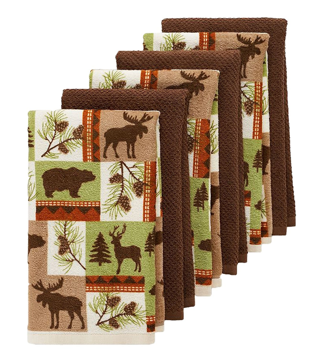 6 pc wildlife kitchen towel set perfect for your