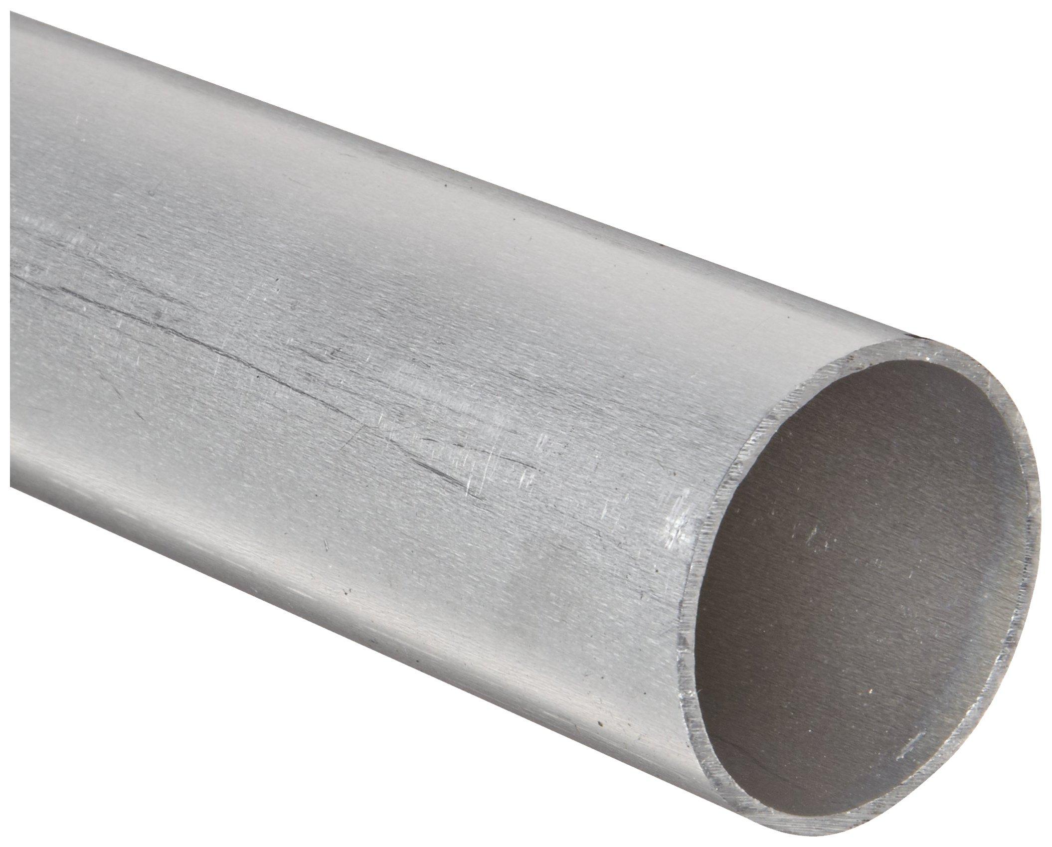 Aluminum 6061-T6 Seamless Round Tubing, WW-T 700/6, 3/4'' OD, 0.68'' ID, 0.035'' Wall, 36'' Length