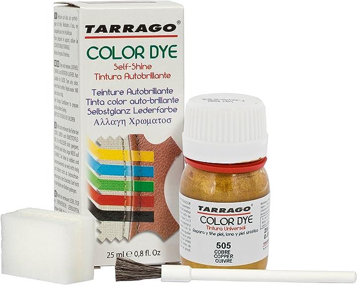 Tarrago | Self Shine Color Dye 25 ml | Tinte Para Cuero y Lona Acabado Brillante Para Teñir Zapatos y Accesorios | Tintura de Secado Rápido Para ...