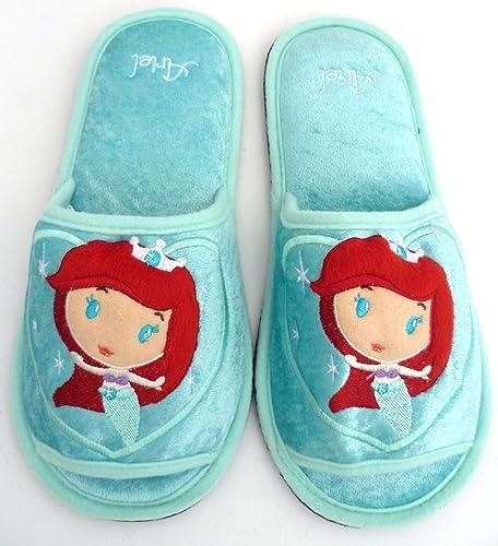 8e5d0b324b5 Disney Princess ARIEL MERMAID Slippers Shoes Soft Plush Length 10.5 Inch -  For Kids
