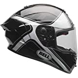 Bell Race Star Tracer Full-Face Motorcycle Helmet (Matte Black/Grey, Medium)