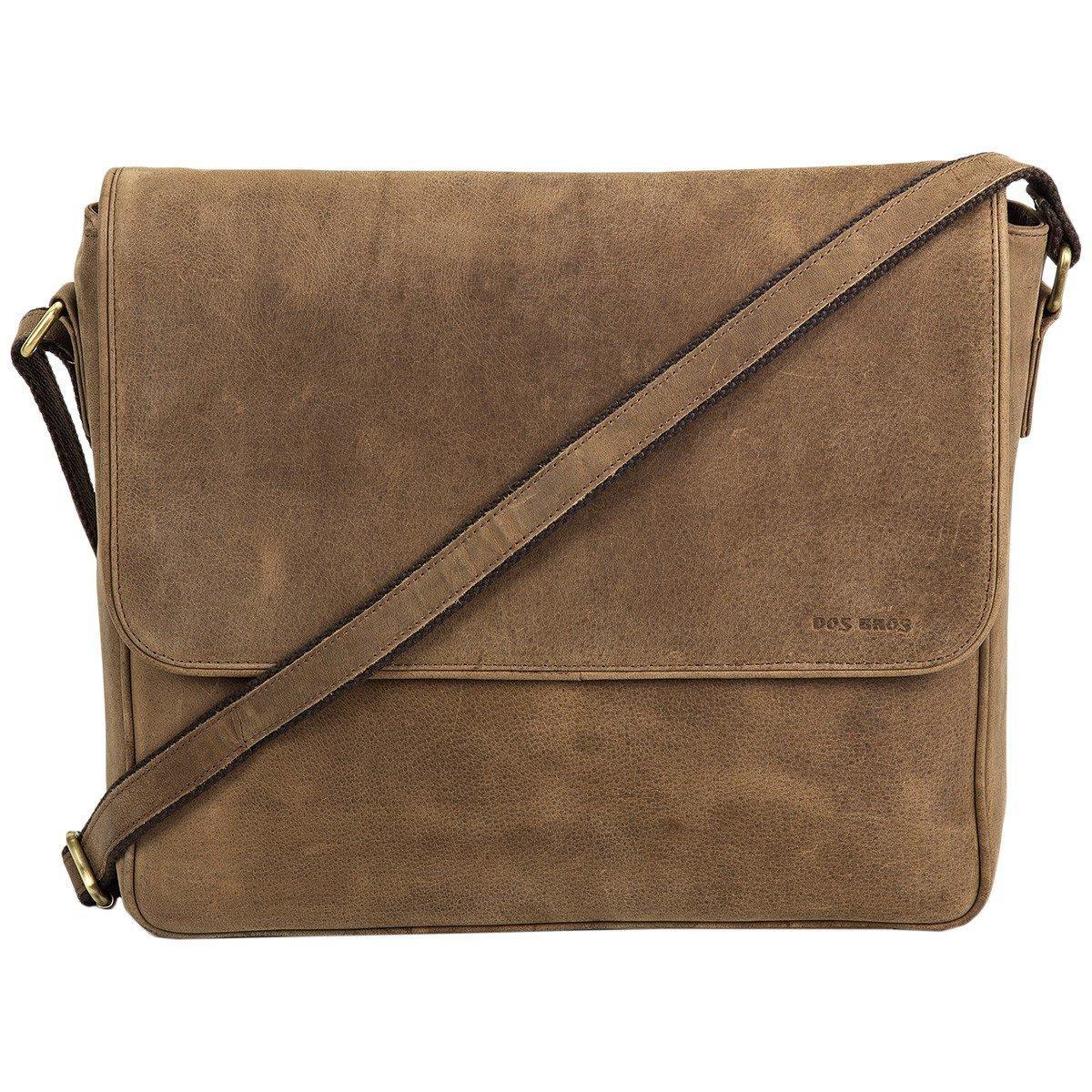 Dos Bros Hunter Leder Laptop Bag Laptoptasche Messenger Umhängetasche Schultertasche DB-022 B06XRG93LD Messenger-Bags