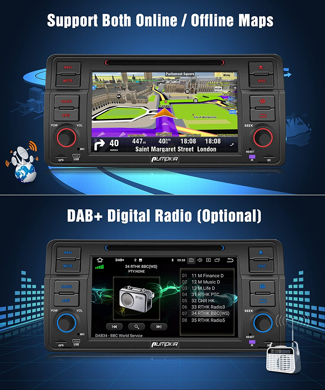 Pumpkin Android 8.0 Radio estéreo de Coche CD DVD Reproductor de ...