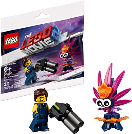 Amazon Com The Lego Movie 2 Minifigure Rex Dangervest With Blaster And Plantimal Toys Games