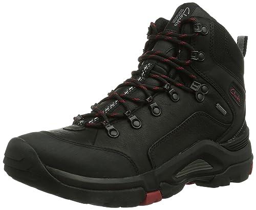 Clarks Outride Hi Gtx, Men Boots, Black (Black Leather), 9.5 UK