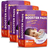 Sposie Overnight Diaper Booster Pads with Adhesive for Pull-on Diapers | Nighttime Leak Protection for Heavy Wetters and Active Sleepers | 84 ct. | Disposable, Universal fit for Boys & Girls
