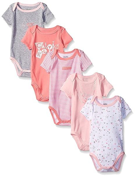 Amazon.com: Calvin Klein Baby Girls Assorted Short Sleeve ...