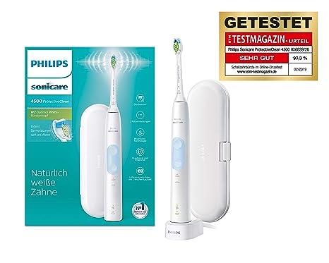 Philips Sonicare ProtectiveClean 4500 elektrische Zahnbürste HX6839/28 – Schallzahnbürste mit 2 Putzprogrammen, Andruckkontro