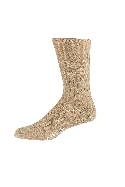Boardroom Socks Mens Mid Calf Merino Wool Dress Socks Ribbed Style 1500
