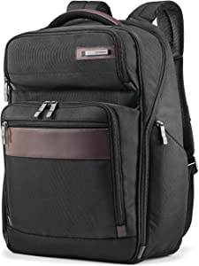 Samsonite Kombi Business Backpack, Black/Brown, 17.5 x 12 x 7-Inch