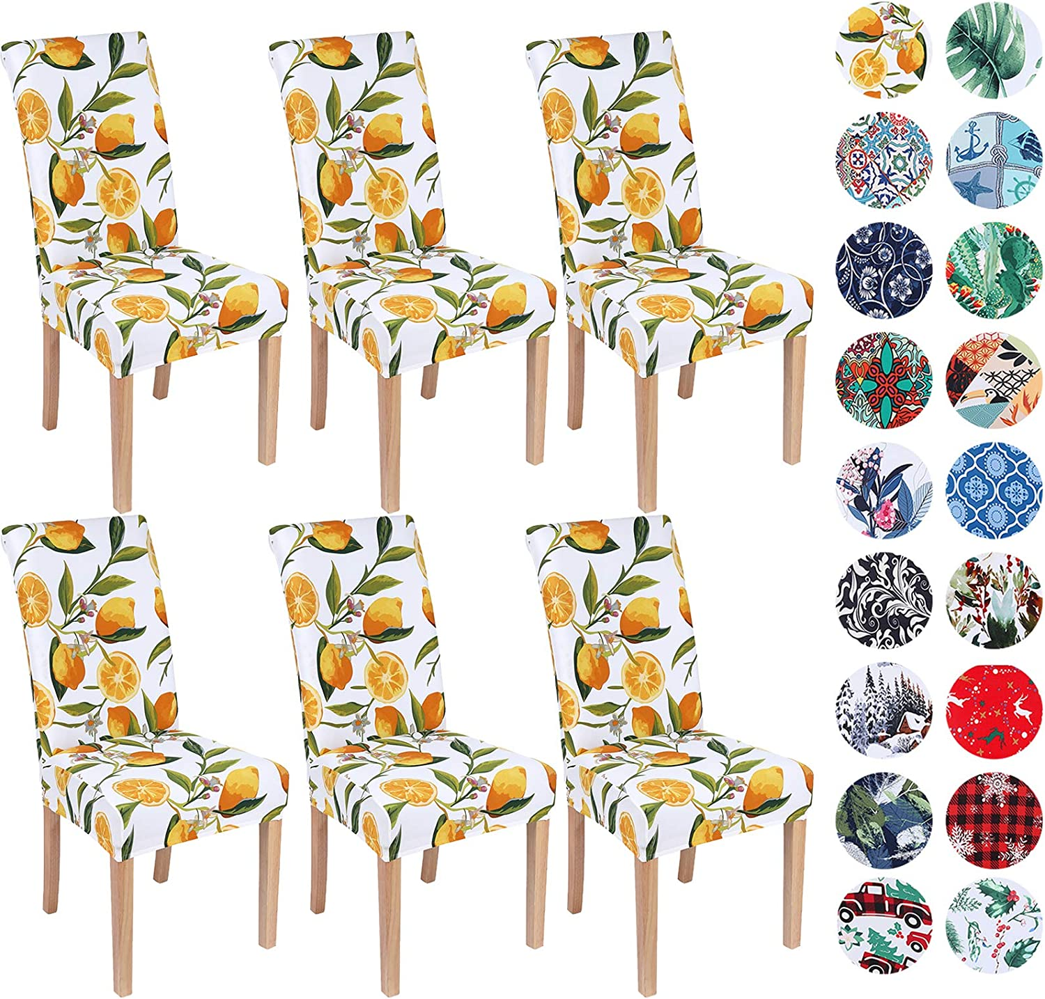 Spandex Chair Seat Pad Removable Stretch Covers Elastic Edge Dining Party Decor