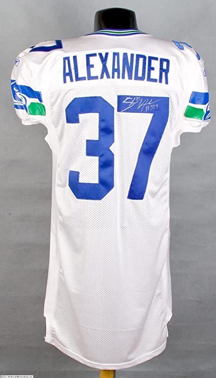 sale retailer 76ec3 3b8e6 2001 Seahawks Shaun Alexander White Game-Worn Jersey at ...