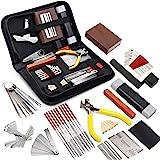 MIFOGE 45Pcs Guitar Repairing Maintenance Tool Kit with Carry Bag Large Care Set of Tools For Acoustic Guitar Electric guitar