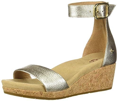 3abc38daede UGG Women's Zoe Ii Metallic Wedge: Amazon.co.uk: Shoes & Bags