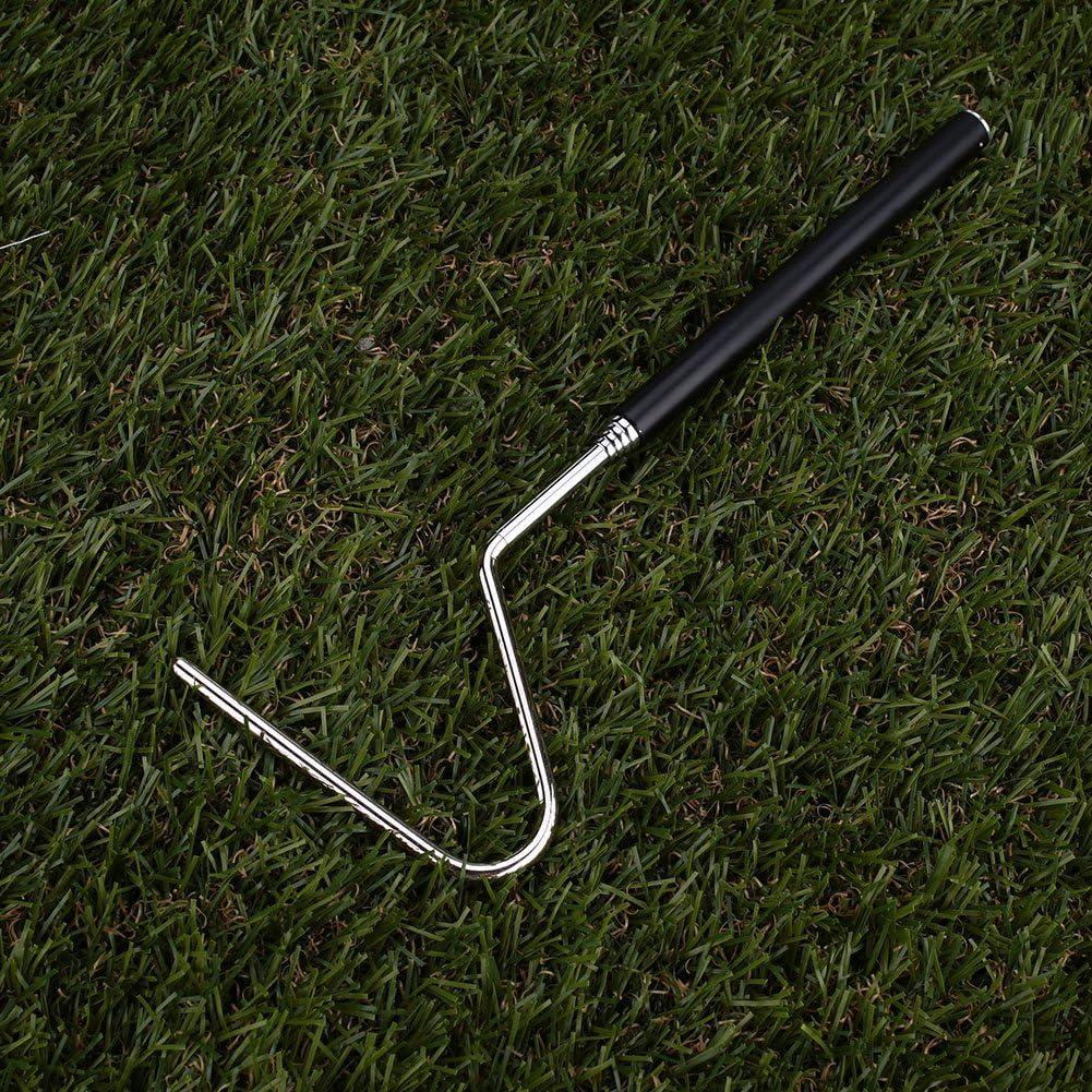Pinzas de Serpiente, Mango Negro Herramienta de Captura de Serpientes Gancho de protección de mordida portátil para Reptiles Atrapar Pinzas de Serpientes Herramienta Tamaño pequeño