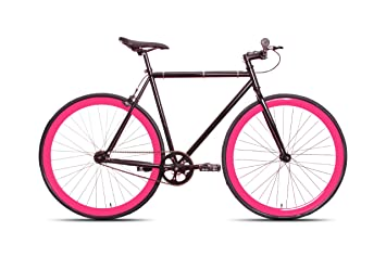 513e1a0e3be7a Image Unavailable. Image not available for. Colour  50cm Black   Pink CM Fixie  Fixed Gear Single Speed Urban Road Bike Flip-Flop