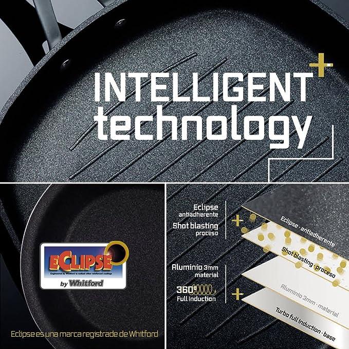MasterPro Paellera 36x3.7 cm Aluminio prensado Apta para inducción Gravity, Negro, 36 cm: Amazon.es: Hogar