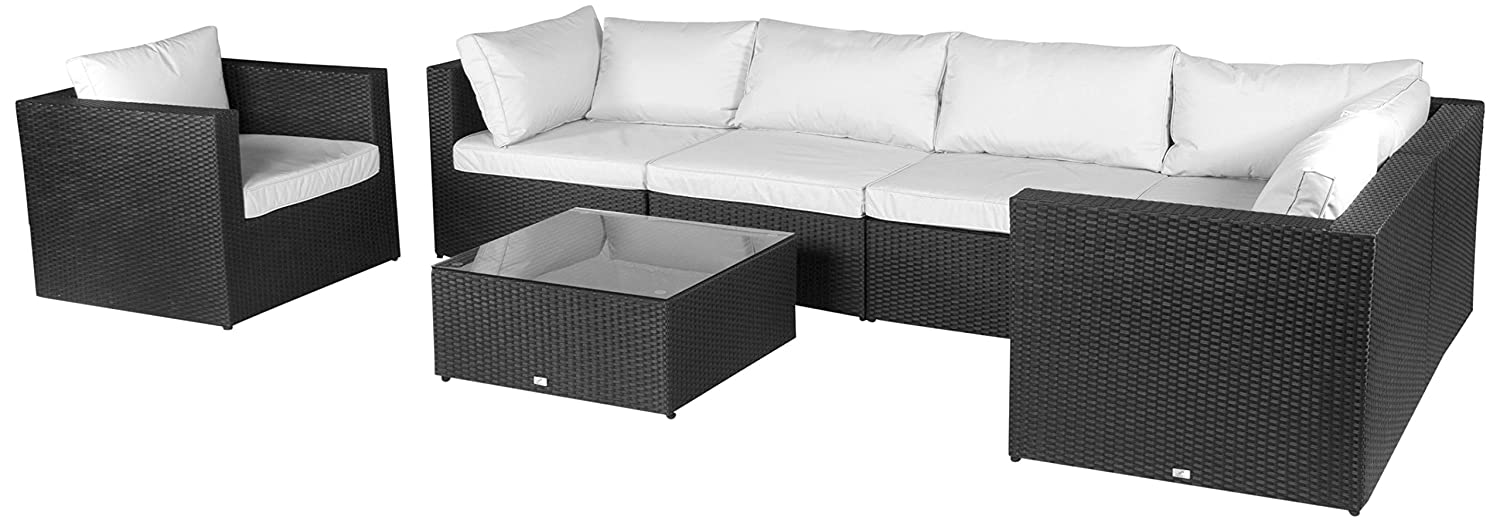 Loungemöbel outdoor schwarz  Amazon.de: Vanage Gartenmöbel-Set XXXL Hamburg mit Kissenbezügen ...