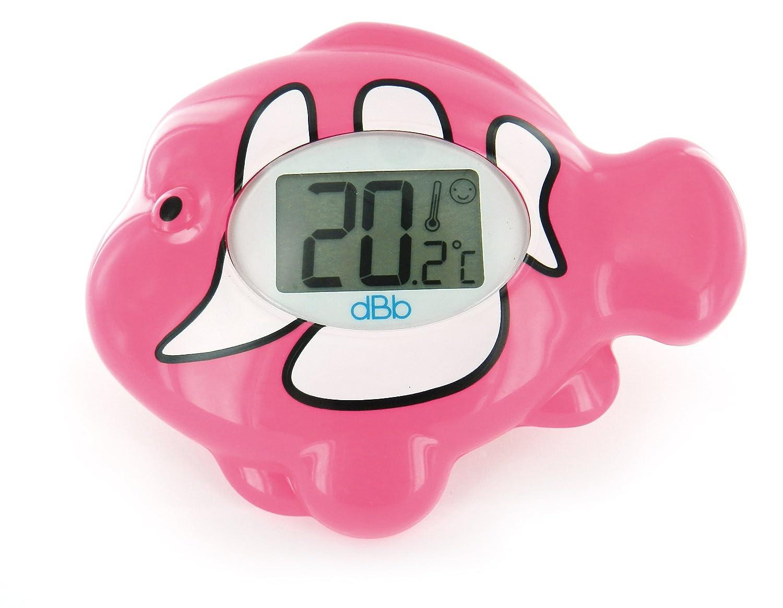 dBb Remond Thermomètre Electronique Ambiance et Bain avec Écran Lumineux Poisson - Rose dBb-Remond 341308
