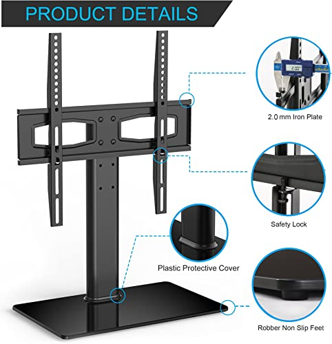FITUEYES Universal TV Stand Tabletop TV Base