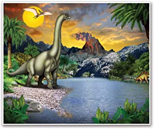 Beistle Dinosaur Insta-Mural, Multicolor