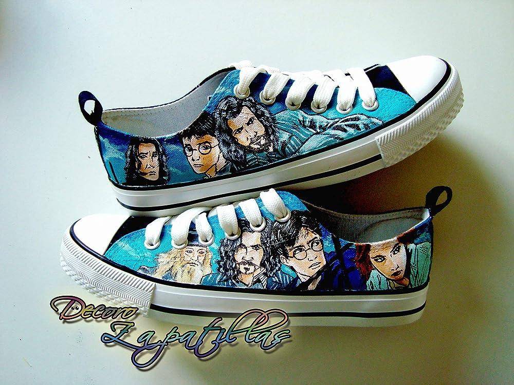 Zapatillas customizadas personalizados lona Harry Potter, regalos para cumpleaños - regalos para el - regalos para ella - regalos aniversario - San ...