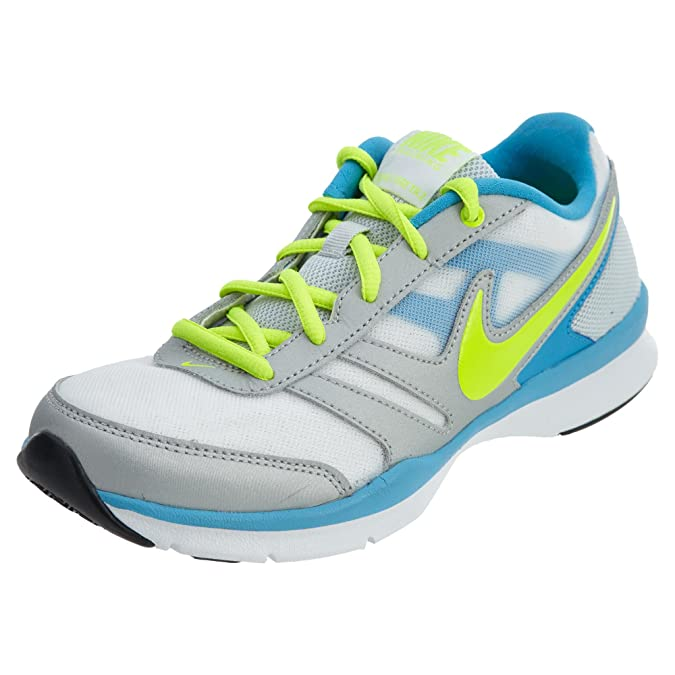 Amazon.com | Nike Total Core Tr 2 White Volt - Metallic Platinum -Vivid Blue (W) Style: 649845-174 Size: 7 | Shoes