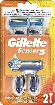 2-Count Gillette Sensor 5 Mens Disposable Razors