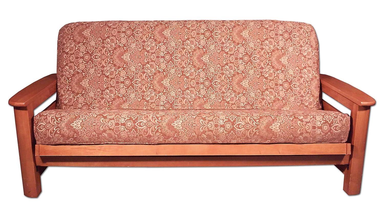 Lifestyle Covers Elegant Futon Cover Floral Gold FSHTF-20 Full Size 54x75