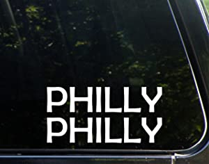 "Philly Philly - 7-3/4"" x 3-3/4"" - Vinyl Die Cut Decal/Bumper Sticker for Windows, Cars, Trucks, Laptops, Etc."