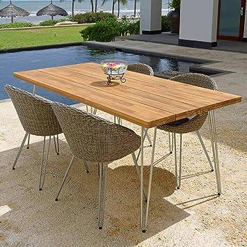 Terrassenmöbel modern  Amazon.de: OUTLIV. Gartenmöbel Modern Sarges Sitzgruppe 5-tlg Stahl ...
