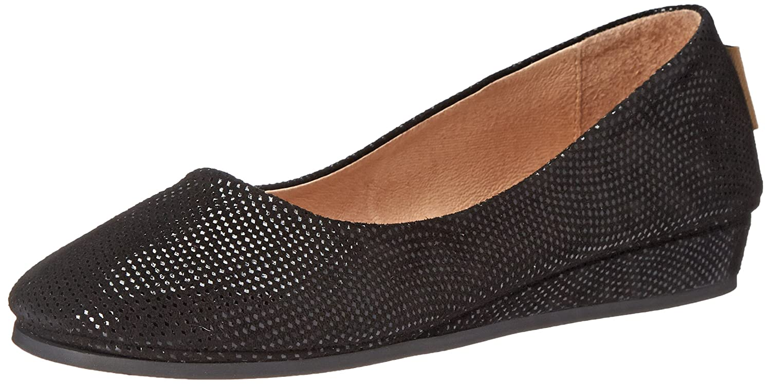 French Sole Women's Zeppa Slip on Shoes B0021AG8NA 7.5 B(M) US|Black Wave