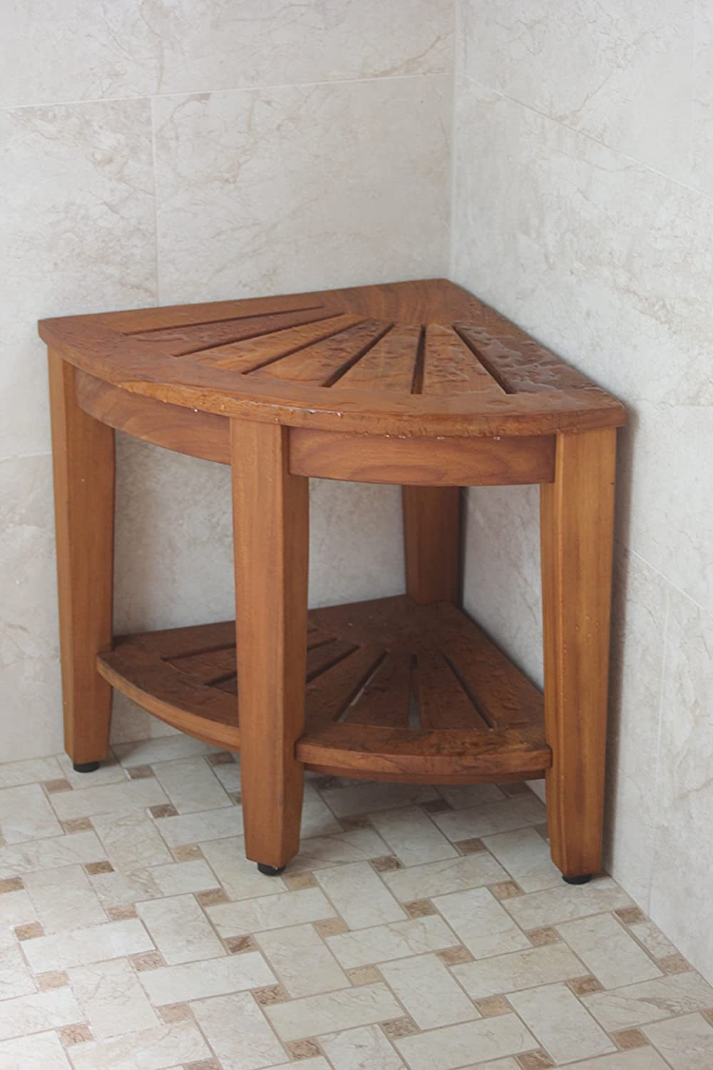 bench only bamboo top at selling and bath product shower