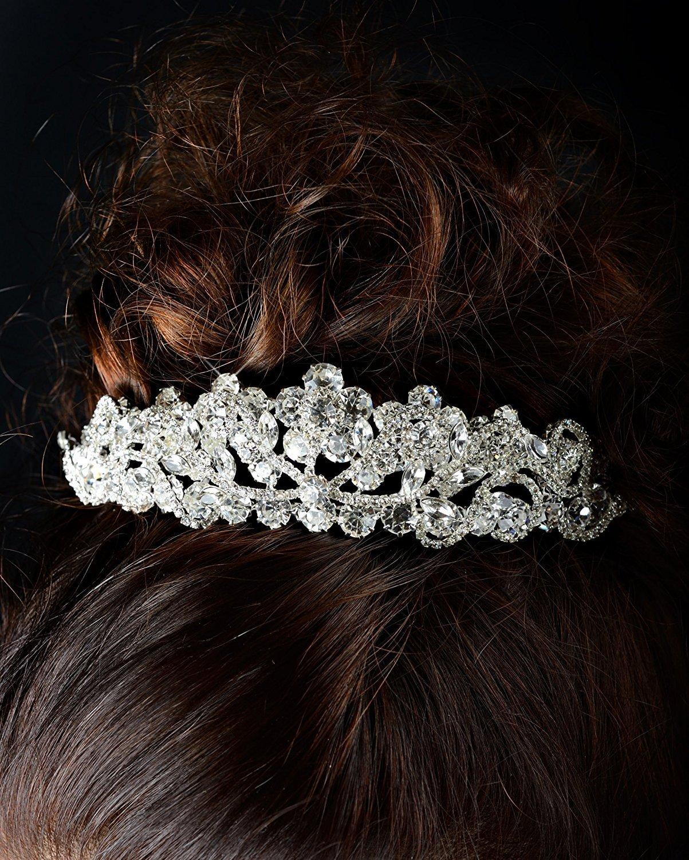 Bridal Multi-Layer Austrian Crystal Rhinestone Silver Wedding Tiara