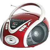 Trevi CMP 542 USB Stereo Portatile Boombox con Lettore CD, Mp3, USB, Radio, Rosso