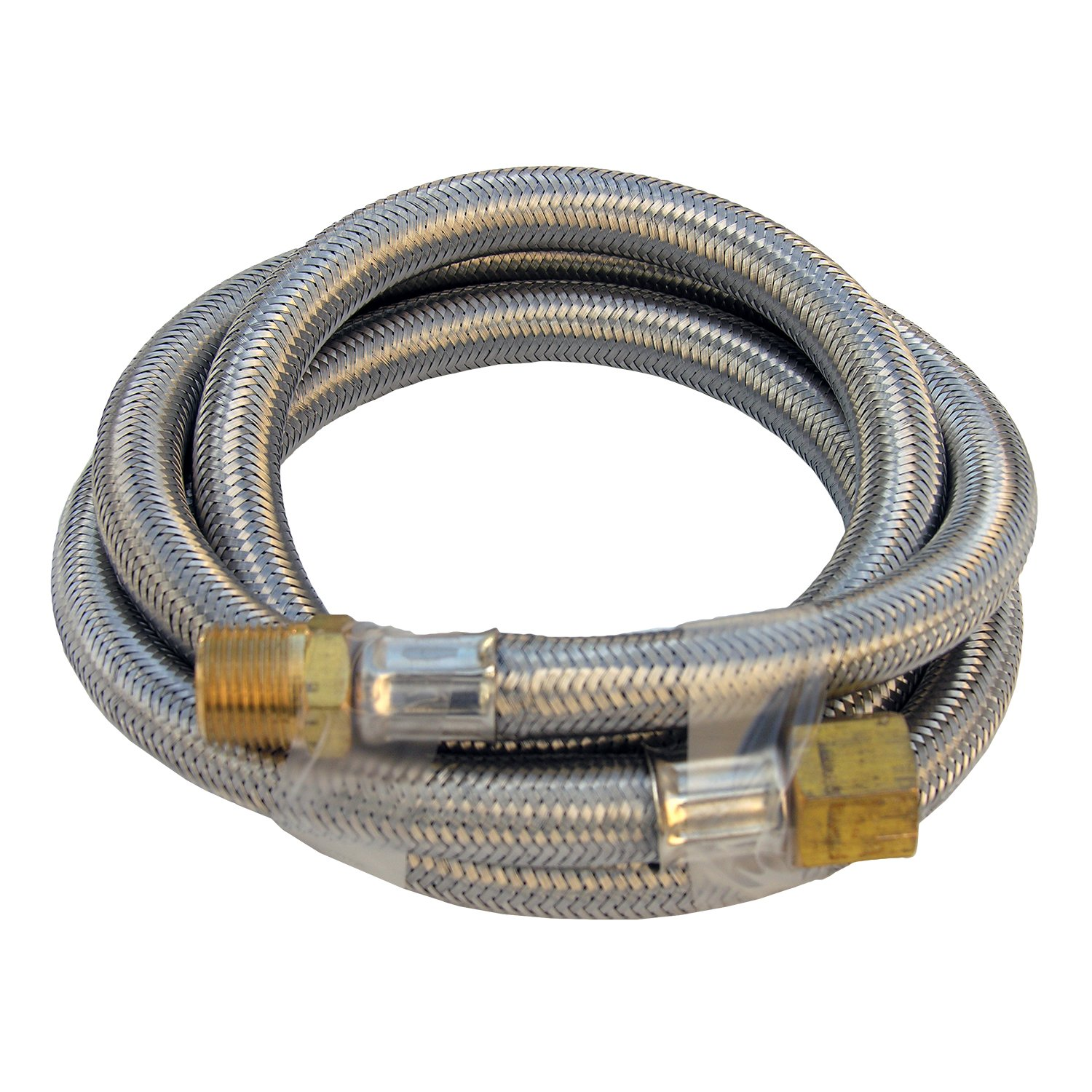 Lasco 16-9181 Stainless Steel Propane 5-Feet Extension Hose with 1//4-Inch Pipe Thread