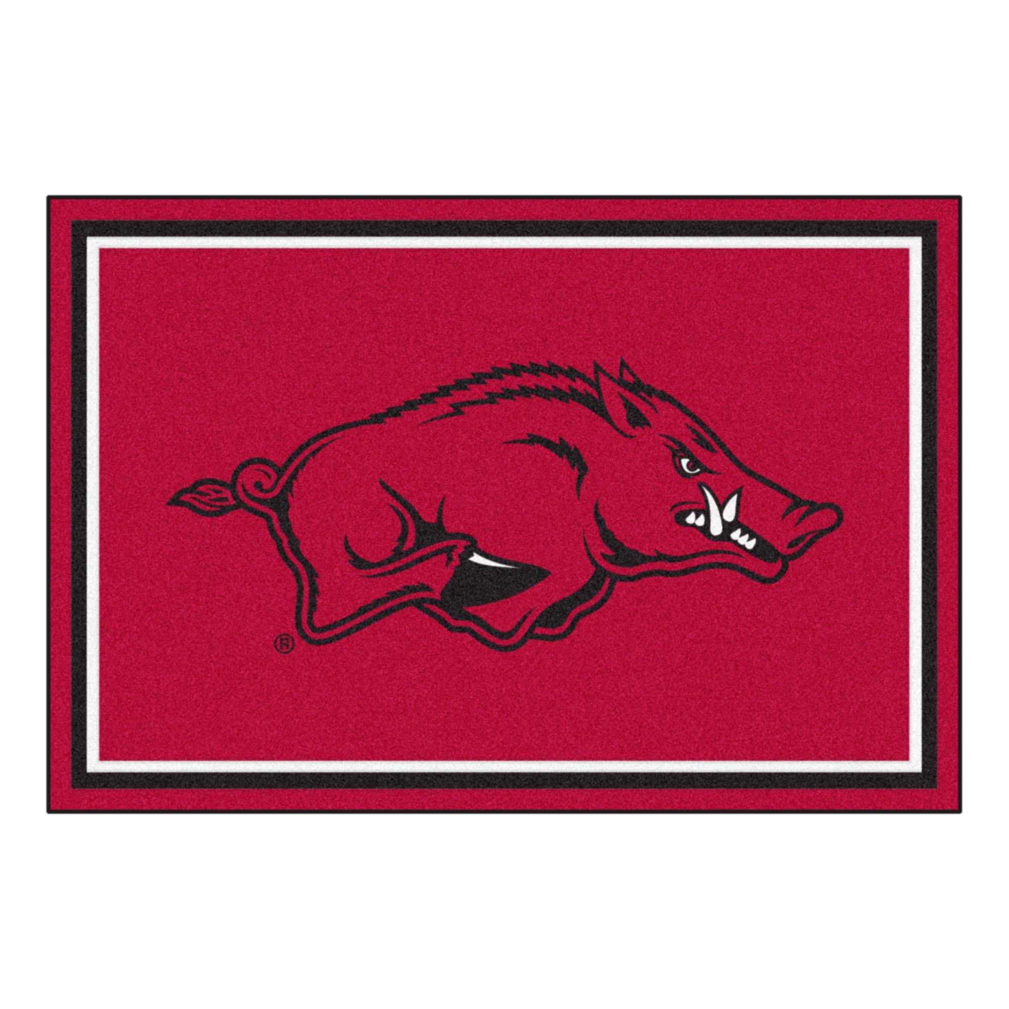 FANMATS NCAA University of Arkansas Razorbacks Nylon Face 5X8 Plush Rug by Fanmats (Image #1)