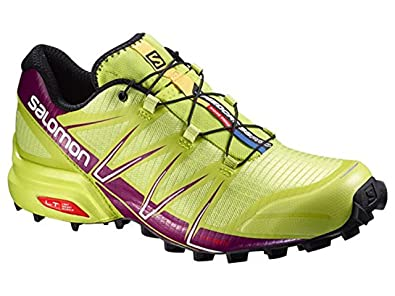 Salomon Women's Speedcross Pro Trail Running Shoes Gecko Green / Mystic  Purple 10.5 and Spare Quicklace
