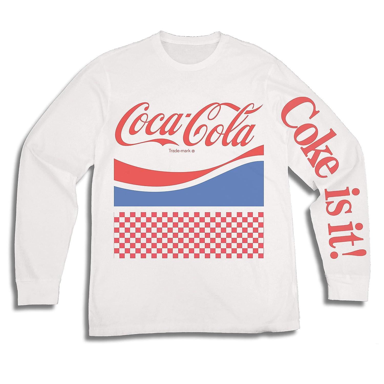 6f17e0c65 Amazon.com: Mens Coca Cola Shirt - Have a Coke and a Smile Long Sleeve Tee  - Coke Soda Classic T-Shirt (White, XX-Large): Clothing