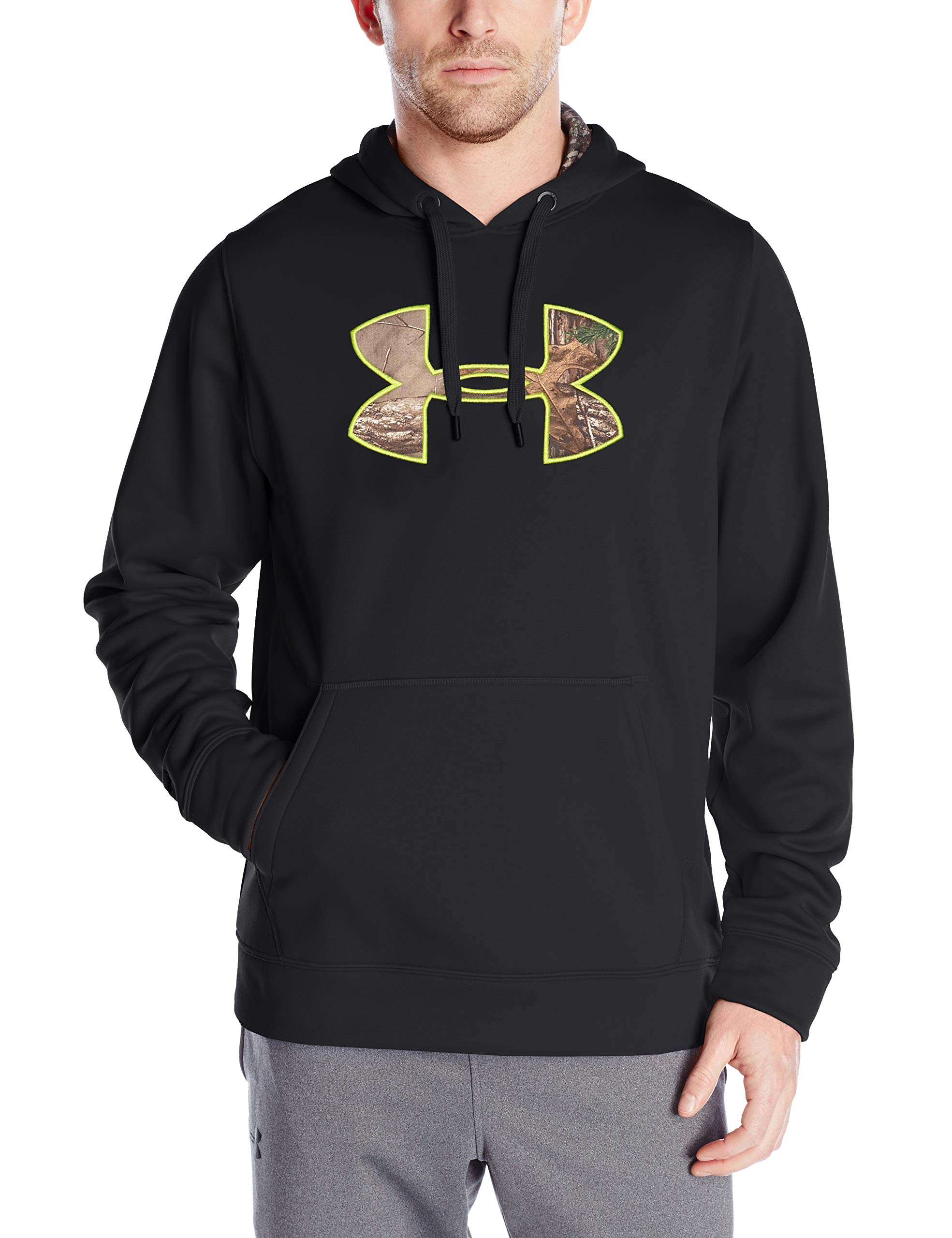 Under Armour Men's Storm Caliber Hoodie, Black /Realtree Ap-Xtra, X-Large by Under Armour