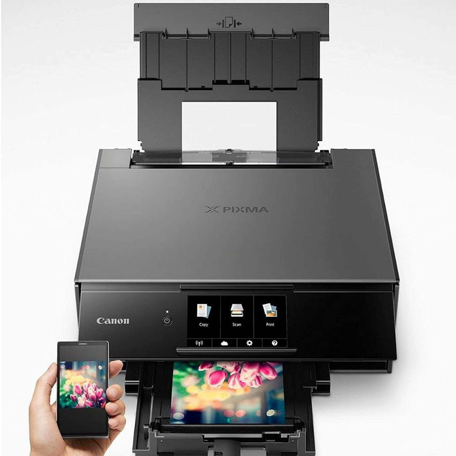 14.2 x 14.7 x 5.6 inches Black with AirPrint and Google Cloud Print Compatible Canon TS9120 Wireless All-in-One Printer with Scanner and Copier: Mobile and Tablet Printing