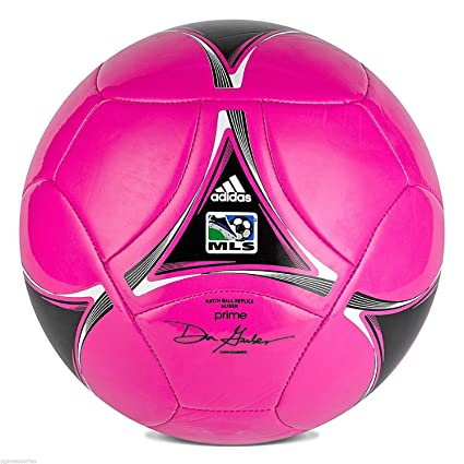 109e49acade82b adidas MLS Glider Soccer Ball - Breast Cancer Awareness - Pink/Black/White  - Size 3 (Under 8 Years Old)