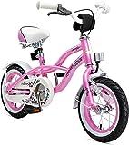Bikestar Premium Sicherheits Kinderfahrrad 12 Zoll für Mädchen ab 3-4 Jahre ★ 12er Kinderrad Cruiser ★ Fahrrad für Kinder