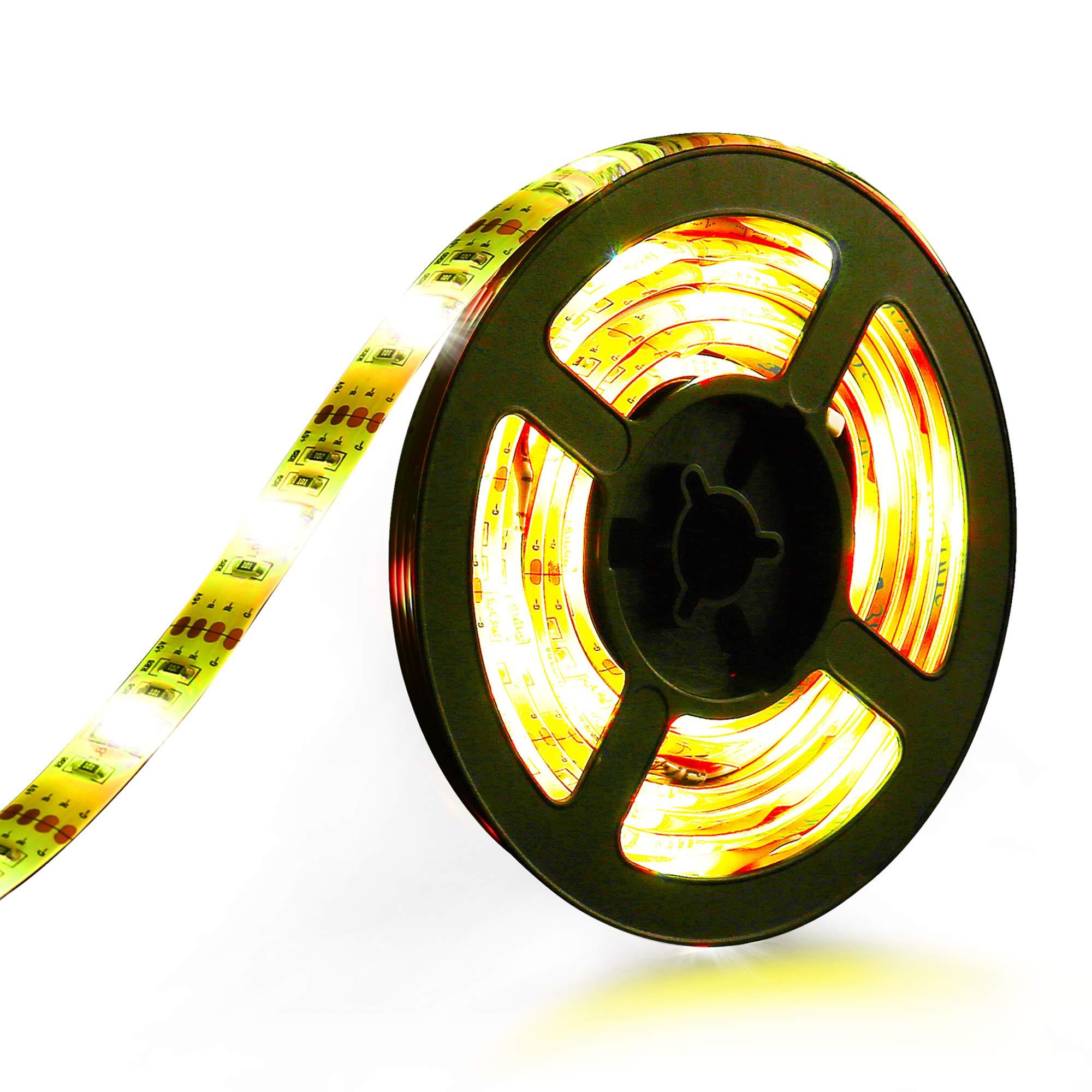 Zerproc LED TV Lights, 6.56ft 60 LED RGB Strip Lights, Voice Sensor & Remote Control, Music LED Strip Lights Kit for 30 Inch to 60 inch HDTV PC Board, Computer, Laptop and Indoor Decoration