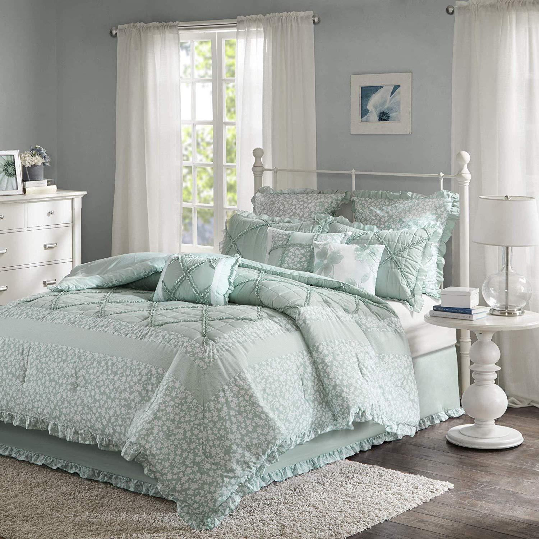 Amazon.com: K-U-P 7 Pc Seafoam, Beautiful Comforter Set ...