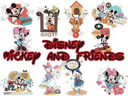 10 grandes Disney Mickey y sus amigos tatuajes temporales: Amazon ...